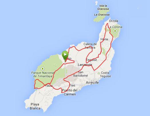 Das war die sieben Stunden Tour - weitestgehend auf der Strecke des IM Lanzarote