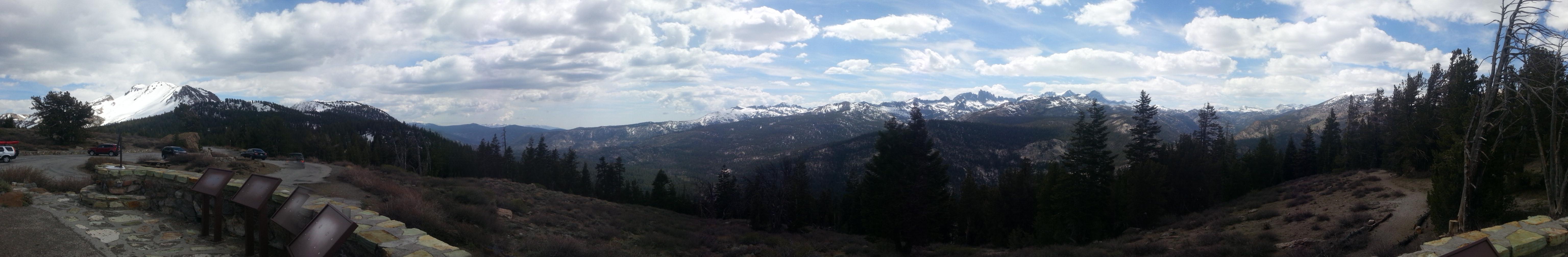 Bergpanorama Mammoth Mountains